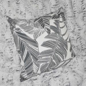 Other - banana leaf black and white floral throw pillow